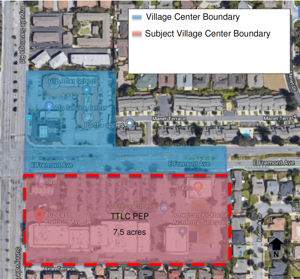 Map of the area for the first project at E. Fremont and Sunnyvale-Saratoga